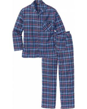 Пижама фланелевая в клетку Bonprix