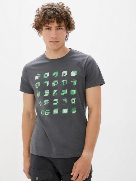 Серая футболка с короткими рукавами Qwentiny