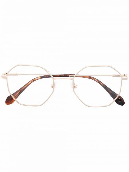 Brązowe złote okulary Gigi Studios