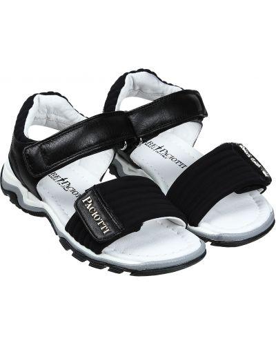 Пляжные черные кожаные сандалии Cesare Paciotti