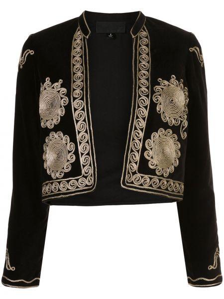 Открытый черный короткая куртка с воротником-стойка Nili Lotan
