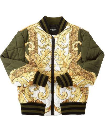 Дутая куртка с воротником с манжетами Versace