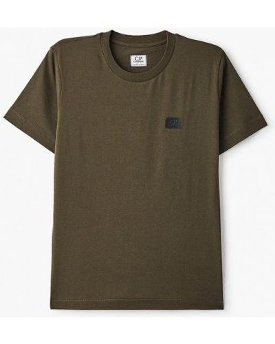 Зеленая с рукавами футболка C.p. Company