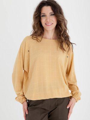 Блузка с длинными рукавами - желтая Gregory