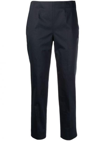 Ватные хлопковые синие укороченные брюки Incotex