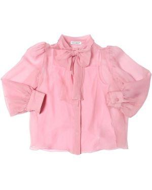 Różowa koszula z jedwabiu Dolce And Gabbana