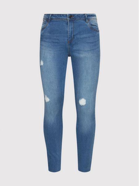 Mom jeans - niebieskie Vero Moda