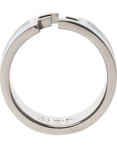 Niebieski pierścionek srebrny Fendi