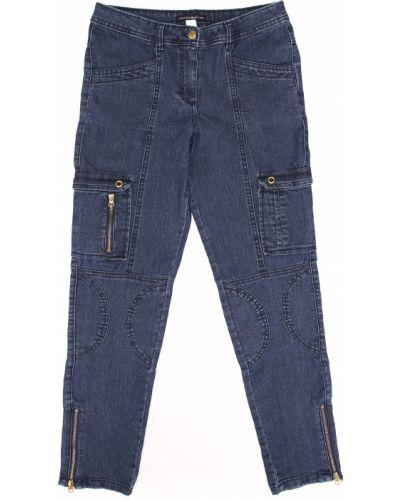 Синие джинсы на молнии Casual