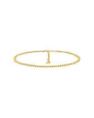 Ремень металлический золотой с поясом с фианитом Ettika