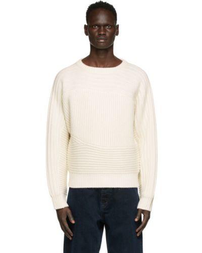 Beżowy sweter wełniany z długimi rękawami Eytys
