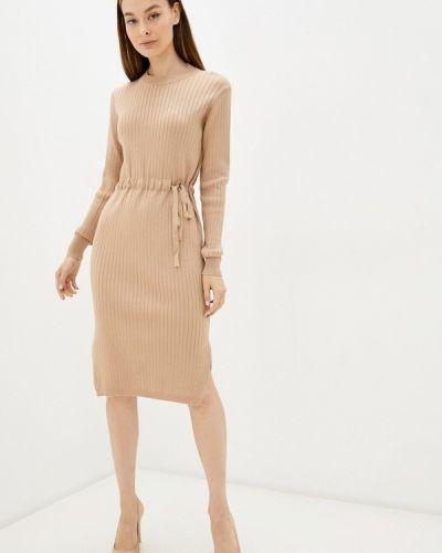 Бежевое демисезонное платье Izabella