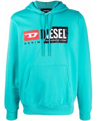 Bluza długa z kapturem z długimi rękawami bawełniana Diesel