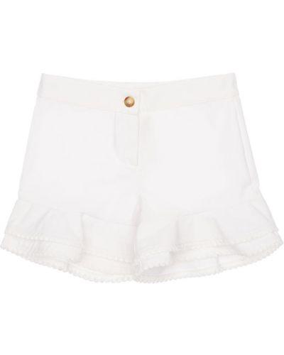 Ватные хлопковые белые шорты La Stupenderia