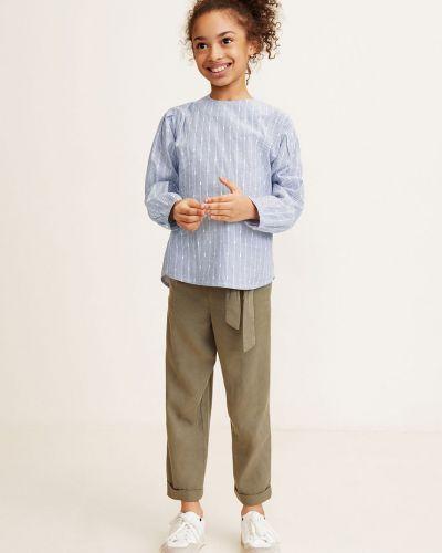 Блуза синий на пуговицах Mango Kids
