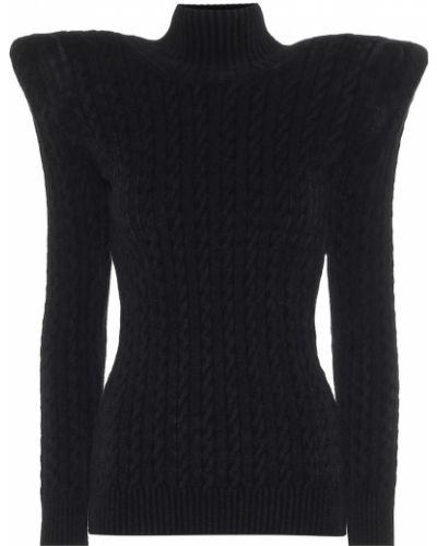 Dom czarny sweter z wiskozy Balenciaga