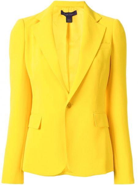 С рукавами желтая куртка свободного кроя Ralph Lauren Collection
