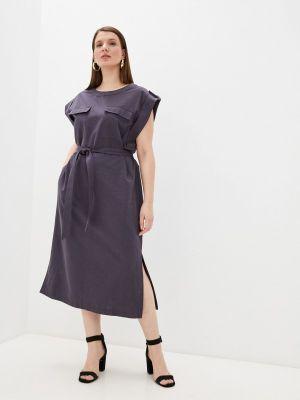 Повседневное серое платье Electrastyle