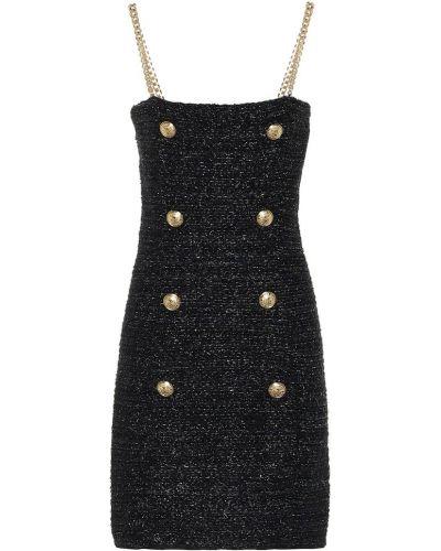 Платье с завышенной талией из вискозы Balmain