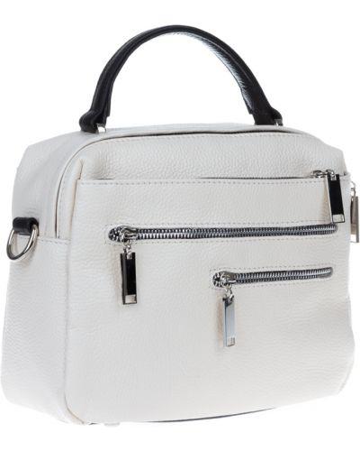 Кожаная сумка - белая Vera Pelle