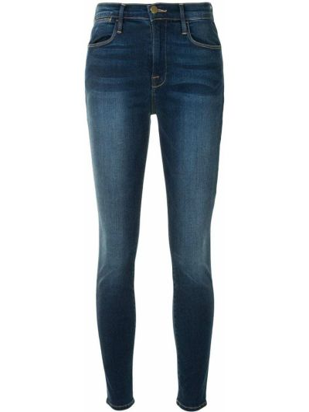 Классические хлопковые синие джинсы на молнии Frame