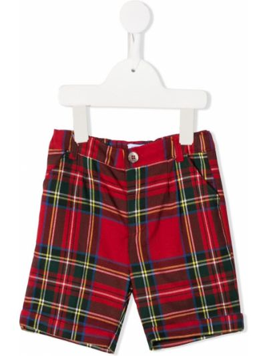 Красные шорты на пуговицах из вискозы Siola