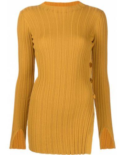 Tunika z długimi rękawami - żółta Adam Lippes