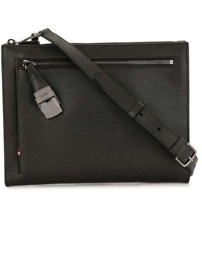 Кожаная черная сумка на плечо на молнии Bally