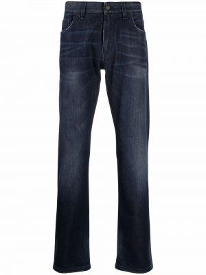 Синие джинсы с вышивкой Fendi