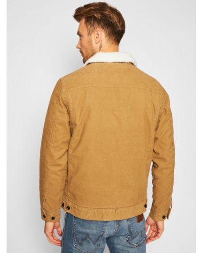 Beżowy kurtka jeansowa Vans