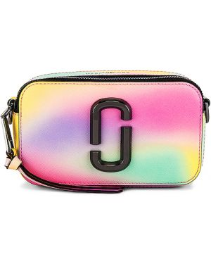 Skórzana torebka trykotowy tekstylna Marc Jacobs