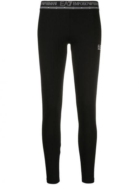 Bawełna bawełna czarny legginsy rozciągać Ea7 Emporio Armani