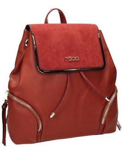 Czerwony plecak skórzany miejski Nobo