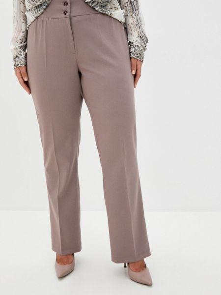 Брюки - коричневые авантюра Plus Size Fashion