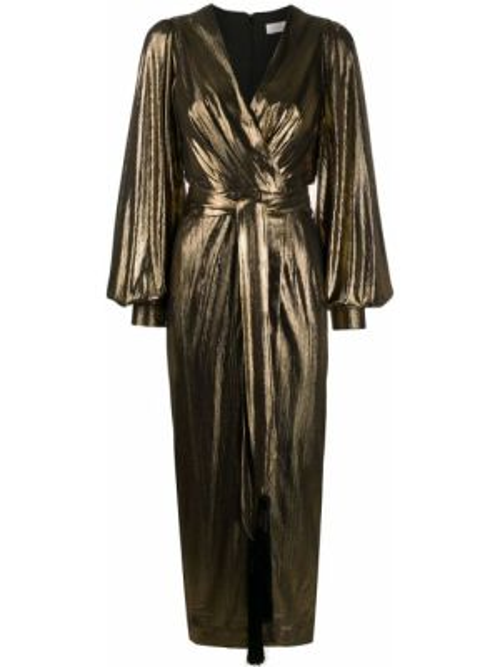 Платье миди с запахом с V-образным вырезом Borgo De Nor