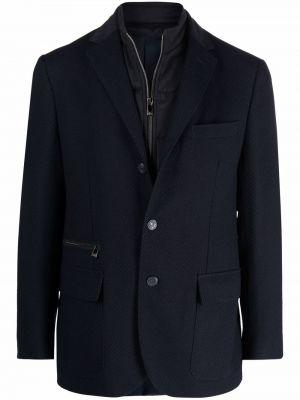 Синий пиджак с карманами Corneliani