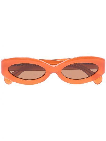 Pomarańczowe okulary srebrne Port Tanger