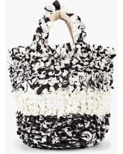 Белая пляжная сумка Mango