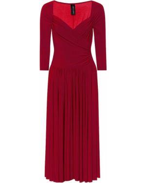 Тонкое платье миди Norma Kamali