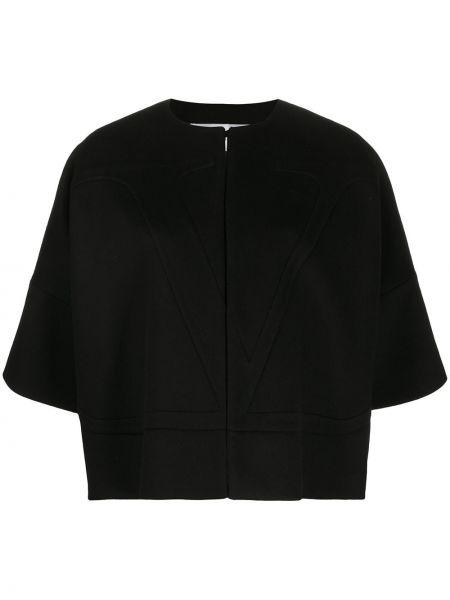 Peleryna czarny wełniany Valentino