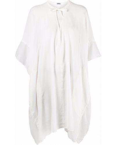 Белое шелковое платье Kristensen Du Nord