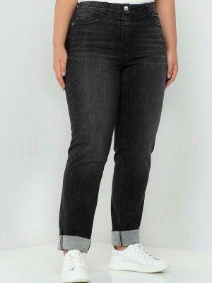 Черные зимние зауженные джинсы Samoon By Gerry Weber