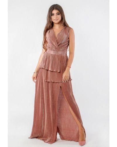 Вечернее платье осеннее бежевое Margo