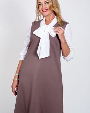 Деловое платье с V-образным вырезом платье-сарафан Belirini