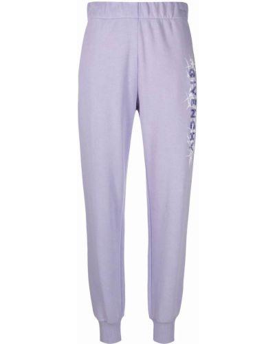Spodnie bawełniane - fioletowe Givenchy