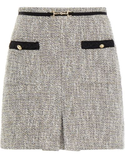 Шерстяная юбка мини - серебряная Maje