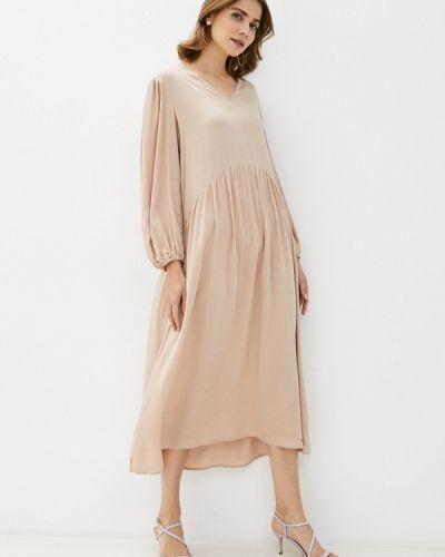 Прямое бежевое платье Imocean