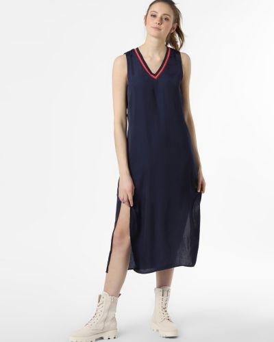 Prążkowana niebieska sukienka jeansowa Pepe Jeans