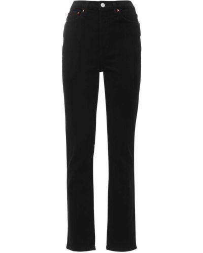 Prosto czarny jeansy z kieszeniami Re/done