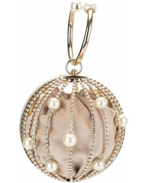 Złota kopertówka perły pozłacana Rosantica